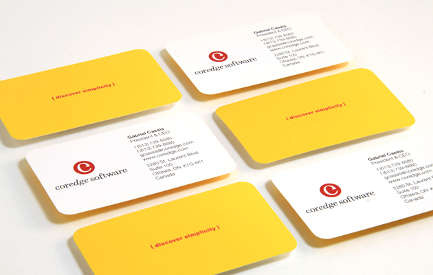 Business Cards for software company Coredge by Ottawa Graphic Designer idApostle