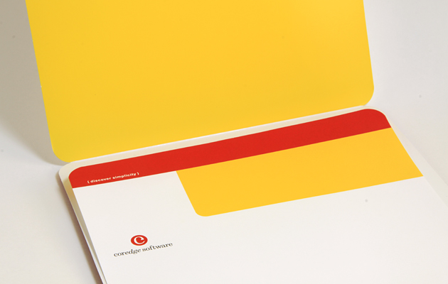 Print collateral for software company Coredge by Ottawa Graphic Designer idApostle