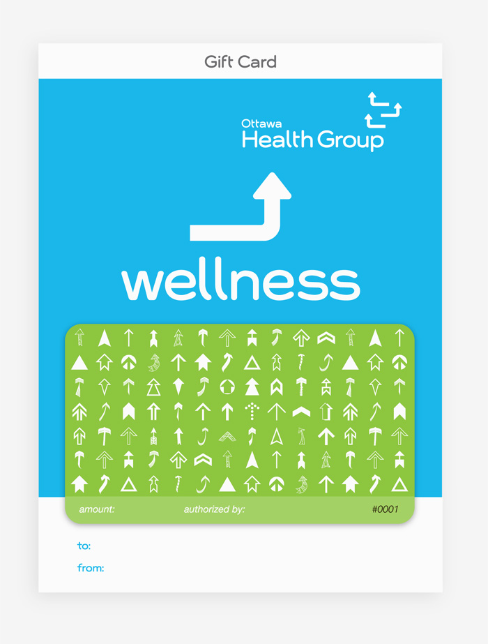 Gift Card Design by Ottawa Graphic Designer idApostle for Health Care Provider Ottawa Health Group