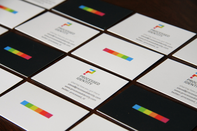 Business Card Design by Ottawa Graphic Designer idApostle for Website Processed Identity