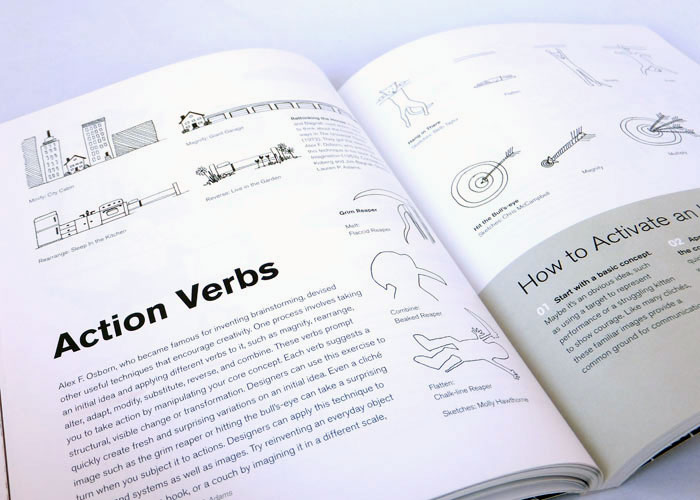 Graphic Design Thinking Action Verbs