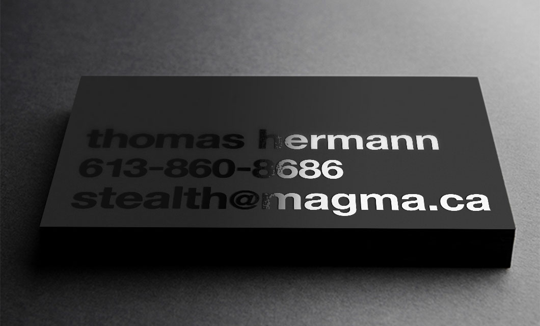 Business Card Design by Ottawa Graphic Designer idApostle for Security Company Stealth