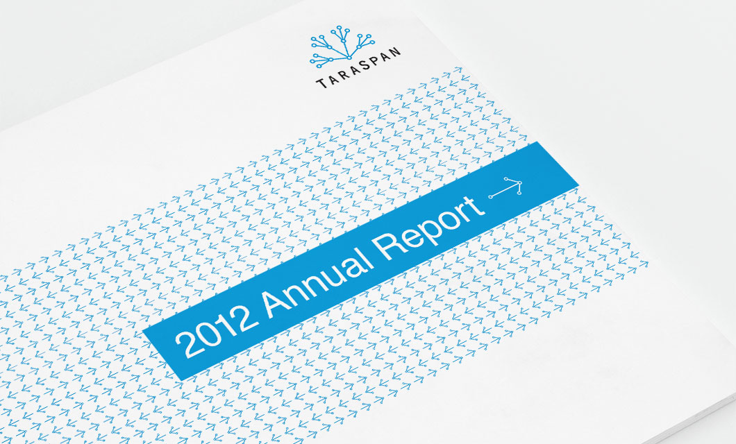 Annual Report Cover Design by idApostle for India Market Entry Company TaraSpan