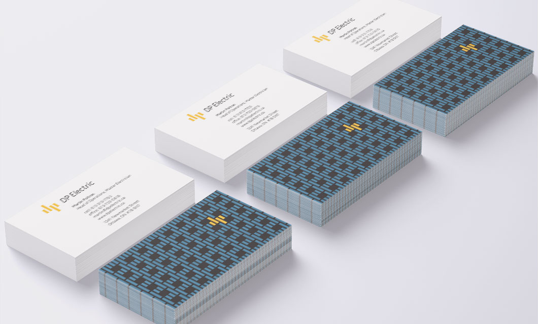 Business Cards for Ottawa Electricians DP Electric by Graphic Designer idApostle
