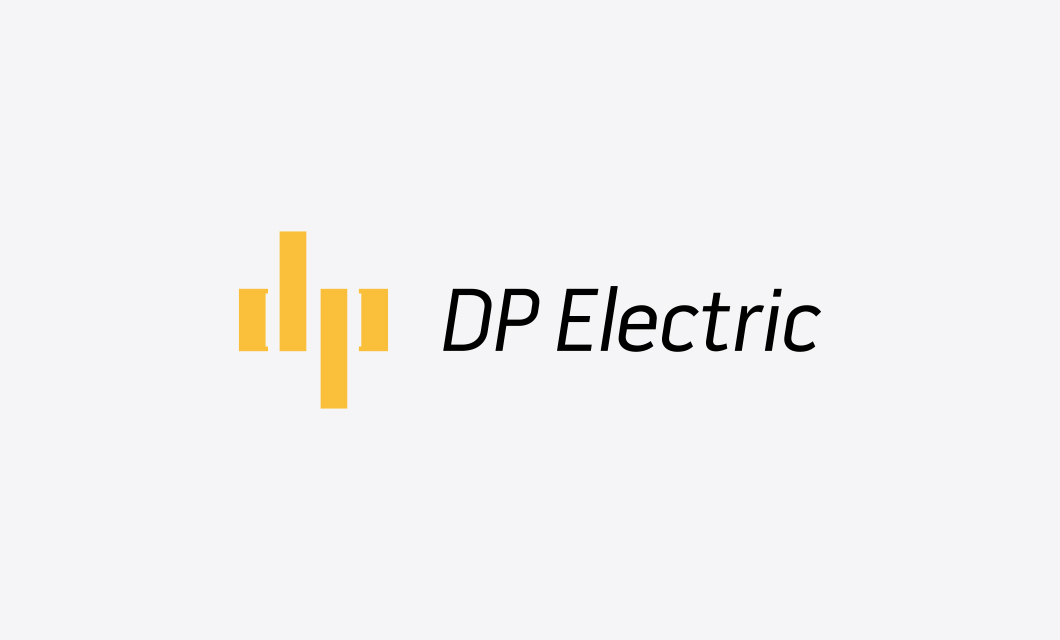 Logo for Ottawa Electricians DP Electric by Graphic Designer idApostle
