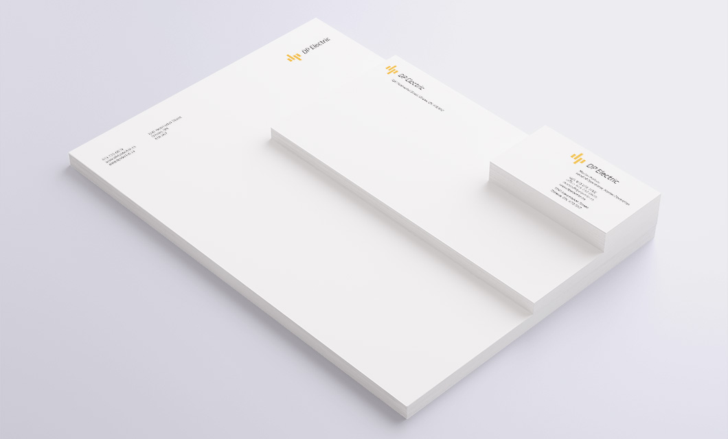 Stationery for Ottawa Electricians DP Electric by Graphic Designer idApostle