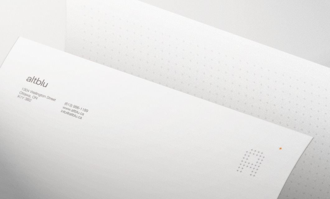 Letterhead for Ottawa interior design company altblu by Ottawa Graphic Designer idApostle