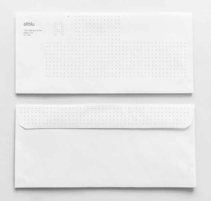 Envelopes for Ottawa interior design company altblu by Ottawa Graphic Designer idApostle