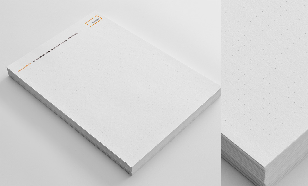 Letterhead and notepads for Ottawa furniture store Alteriors by Ottawa Graphic Designer idApostle