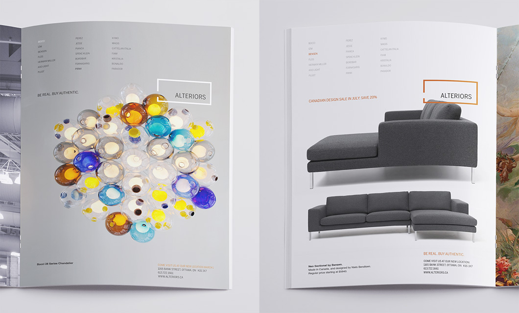 Print Advertising For Ottawa Furniture Store Alteriors By Ottawa Graphic  Designer IdApostle