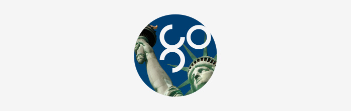 Go USA Symbol for recruitment agency Global Campus Education by Ottawa Graphic Designer idApostle