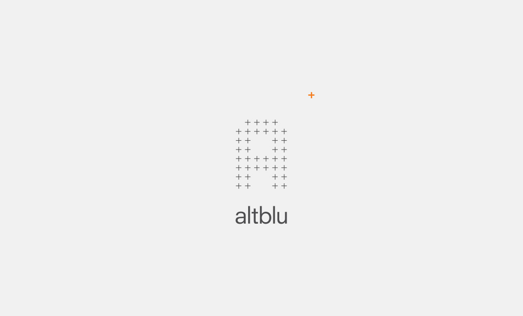 Logo for Ottawa interior design company altblu by Ottawa Graphic Designer idApostle