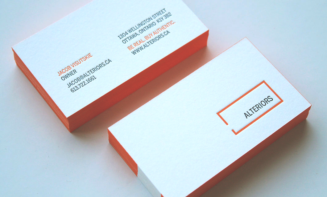 Branding and logo design for Ottawa furniture store Alteriors by idApostle