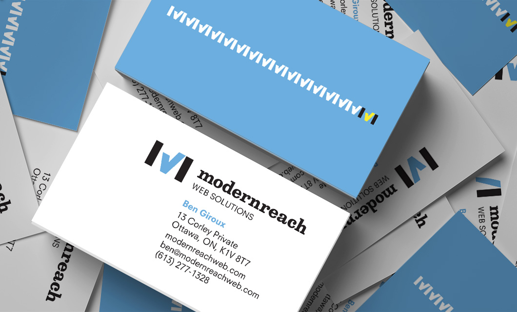 Business Cards by Ottawa Graphic Designer idApostle for Web Development Company Modernreach
