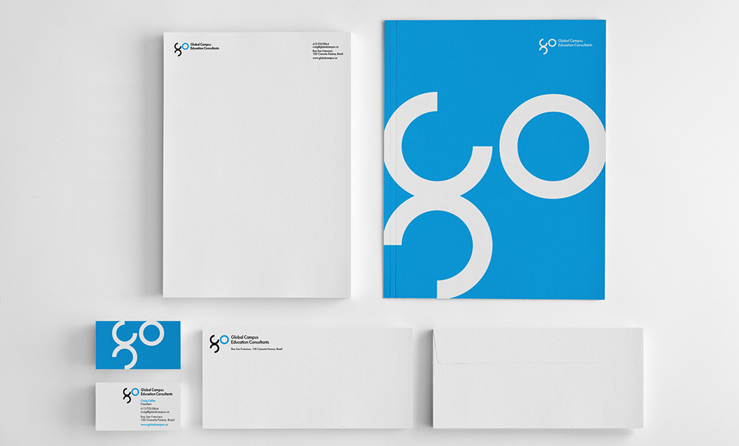 Branding for recruiter Global Campus Education Consultants, including logo design, website and business cards