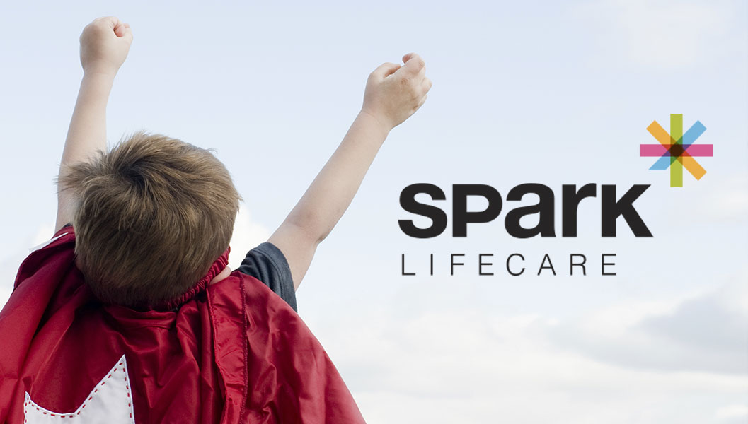 Branding for Ottawa community support company Spark Lifecare, including logo design, icon and business cards