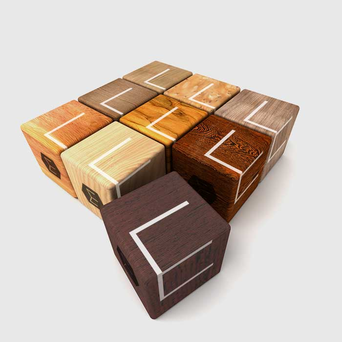 Exotic Wood Blocks By Ottawa Graphic Designer IdApostle