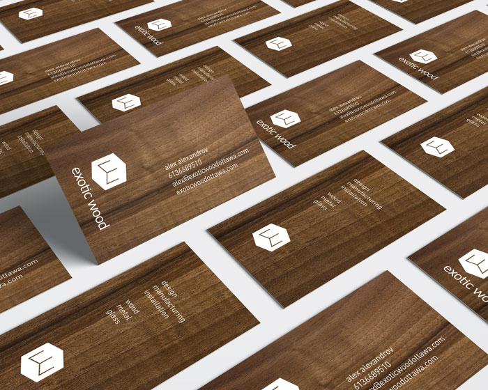 Wooden business cards for exotic wood ottawa idapostle exotic wood cards by ottawa graphic designer idapostle reheart Image collections