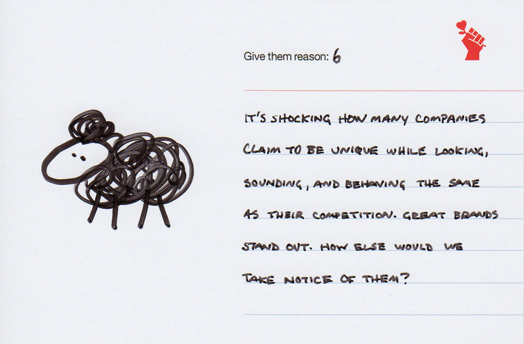 Give them reason 6: Black Sheep