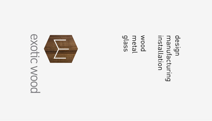 Logo and Services Lockup for Furniture Manufacturer Exotic Wood by Ottawa Graphic Designer idApostle
