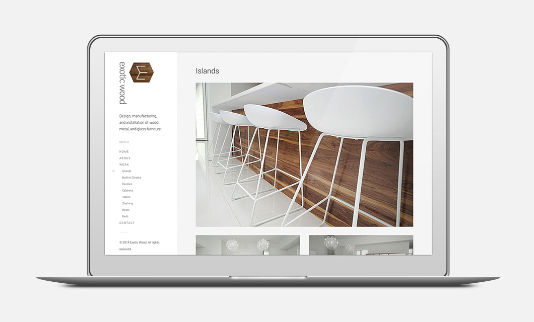 Website for Furniture Manufacturer Exotic Wood by Ottawa Graphic Designer idApostle