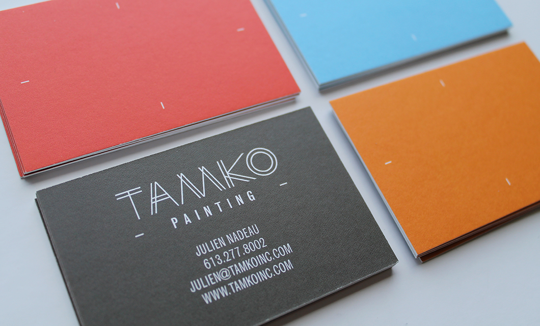 Branding for Ottawa-based painting and contracting company Tamko by idApostle