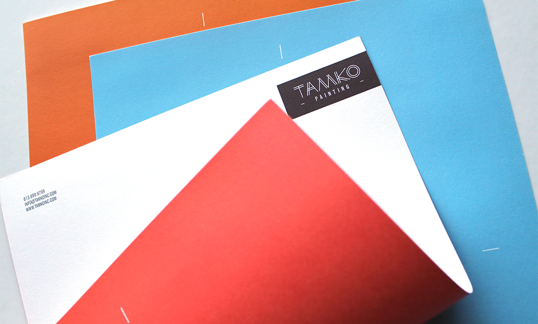 Letterhead for Ottawa-based painting and contracting company Tamko by idApostle
