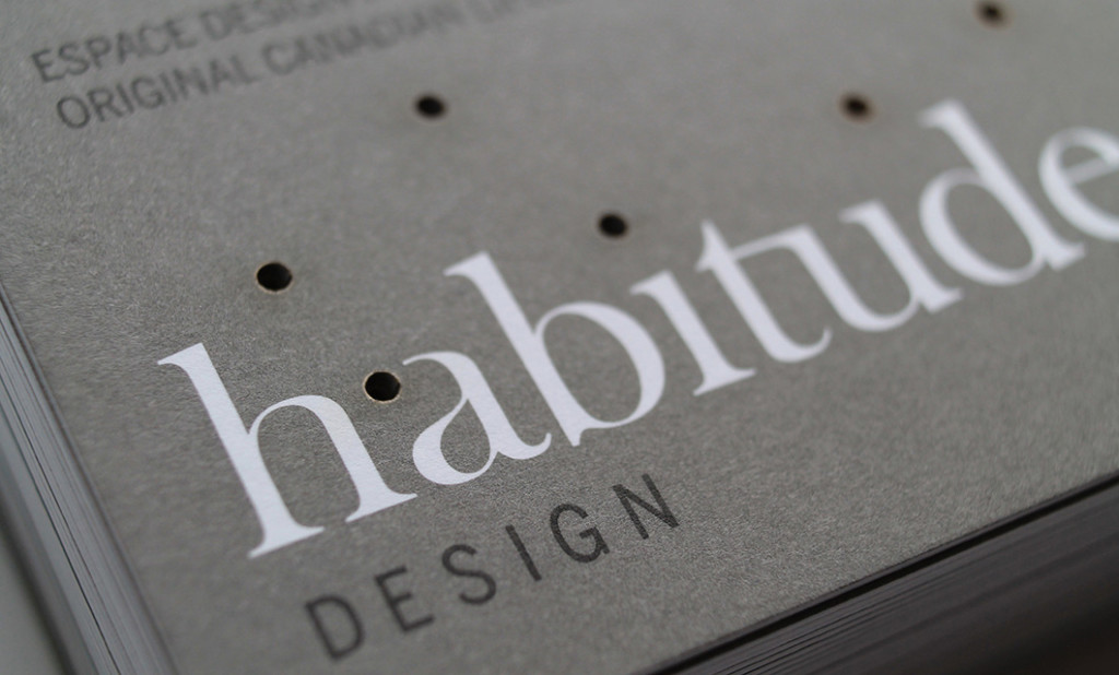 Laser cut Business card (detail) for Ottawa-based Habitude