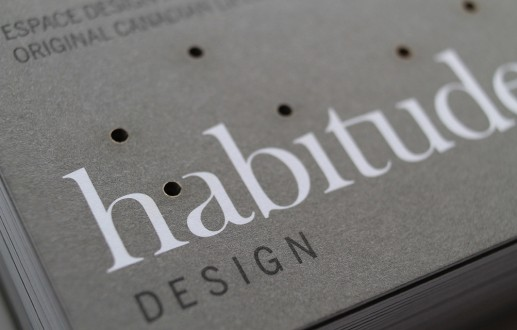 Habitude Design laser cut business cards