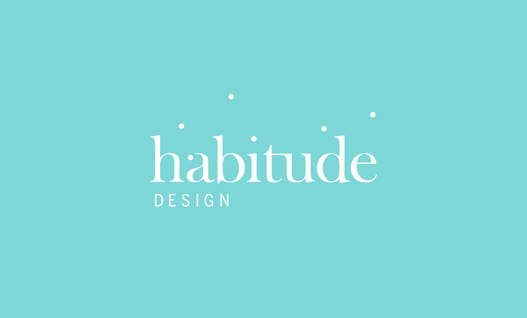 Logo for Canadian lifestyle company Habitude Design by Ottawa Graphic Designer idApostle