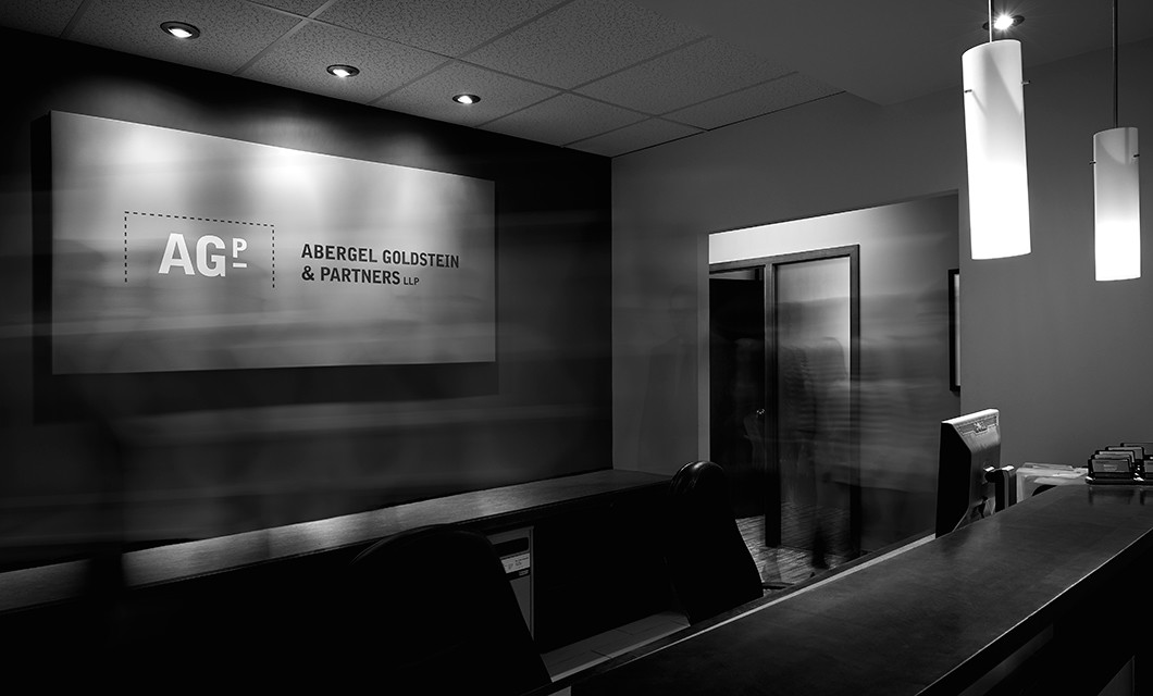 Signage for Ottawa law firm Abergel Goldstein & Partners