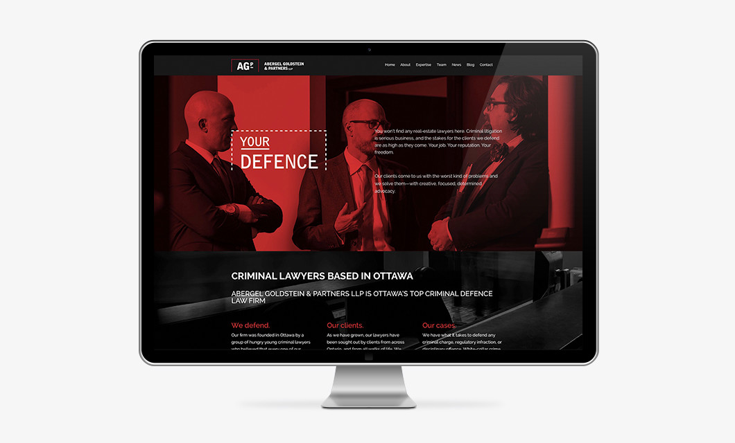 Website for Ottawa law firm Abergel Goldstein & Partners by idApostle
