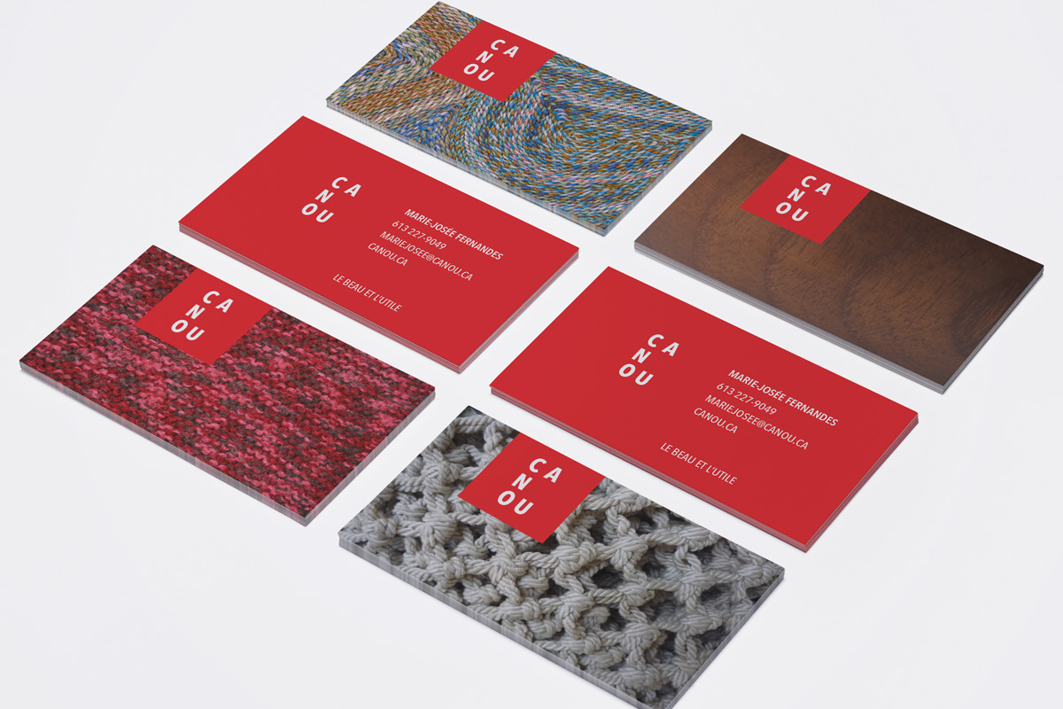 Business Cards for Quebec based company Canou by Ottawa Graphic Designer idApostle