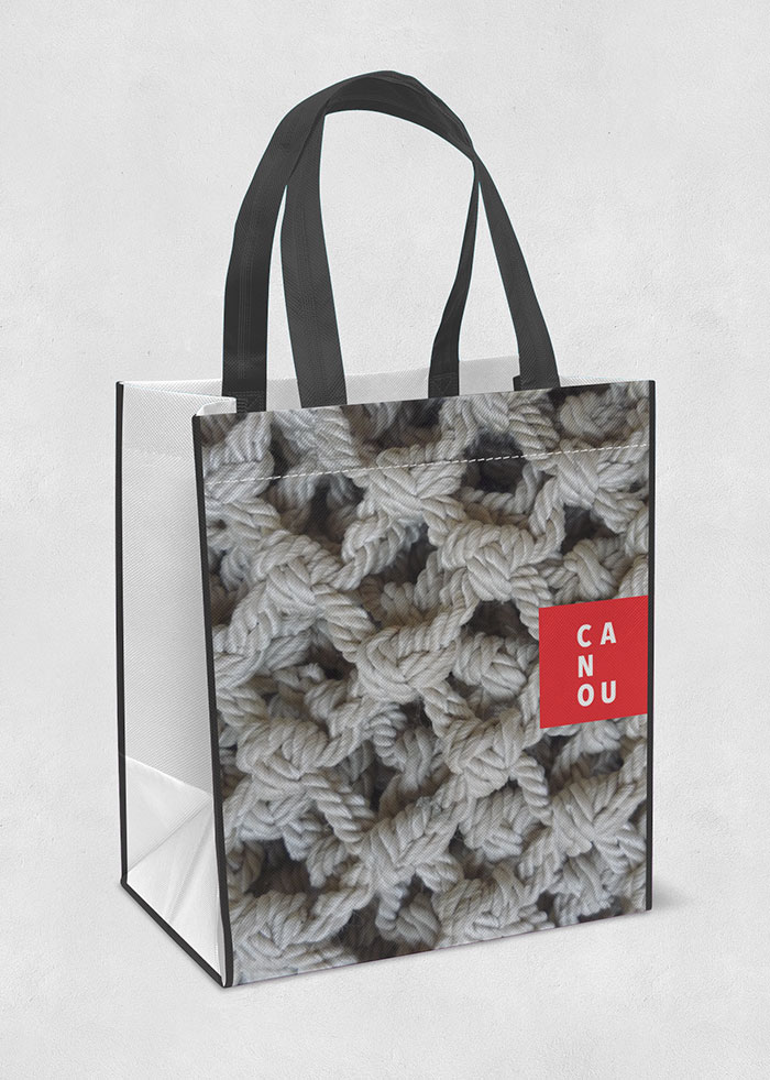 Shopping bag for Quebec based company Canou by Ottawa Graphic Designer idApostle