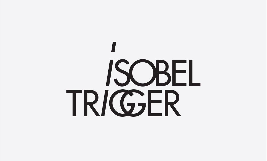 Wordmark / logo (black) for indie pop rock band Isobel Trigger by Ottawa Graphic Designer idApostle