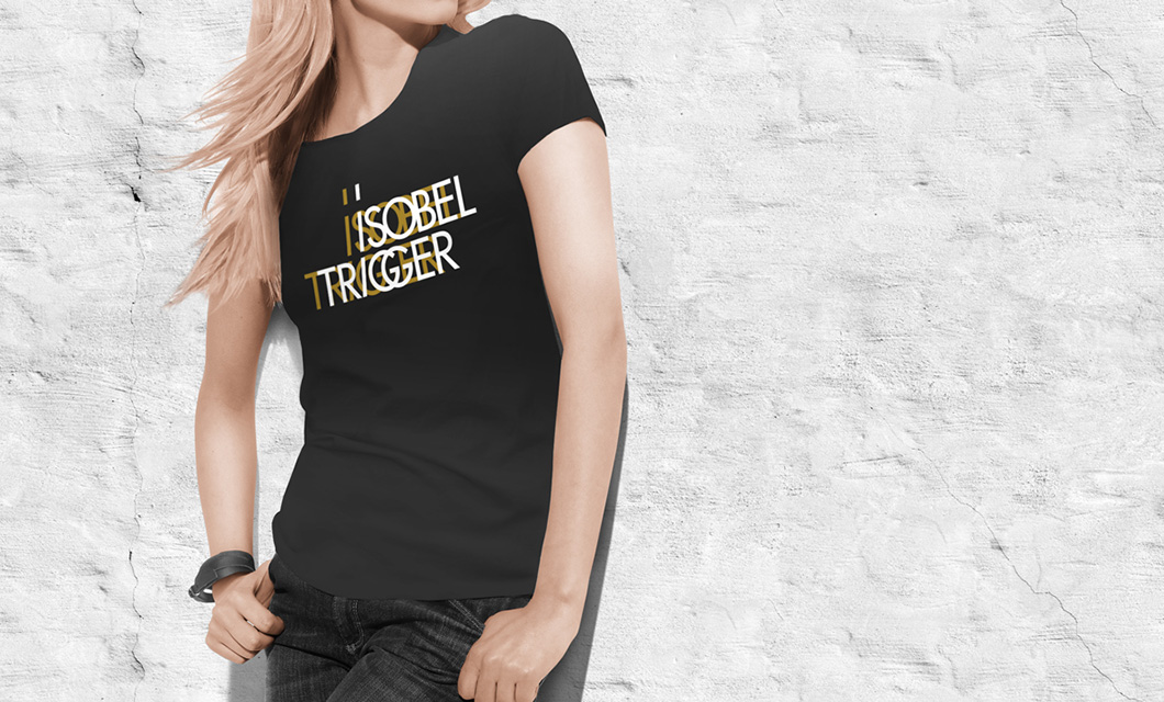 T-shirt for indie pop rock band Isobel Trigger by Ottawa Graphic Designer idApostle