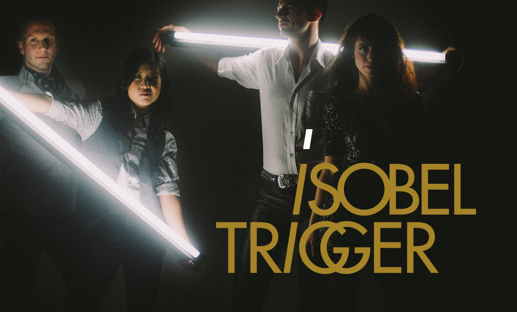 Logo and branding for indie pop rock band Isobel Trigger by Ottawa Graphic Designer idApostle. Photo by Brett Reid Photography.