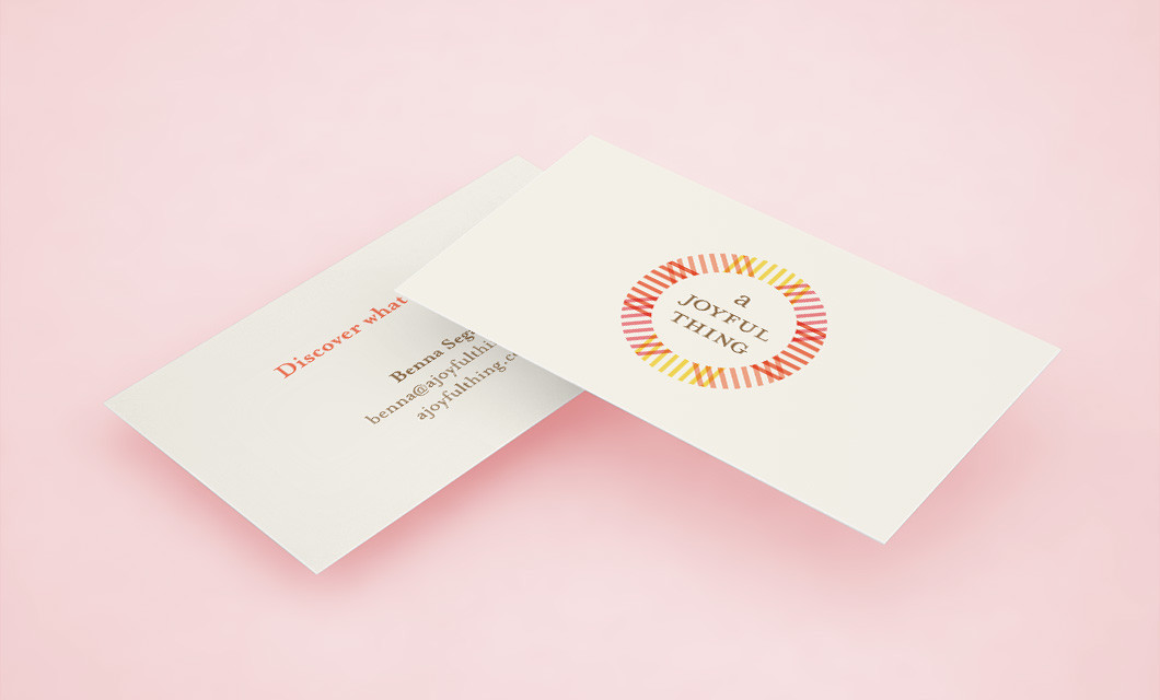 A Joyful Thing Business card by Ottawa Graphic Designer idApostle