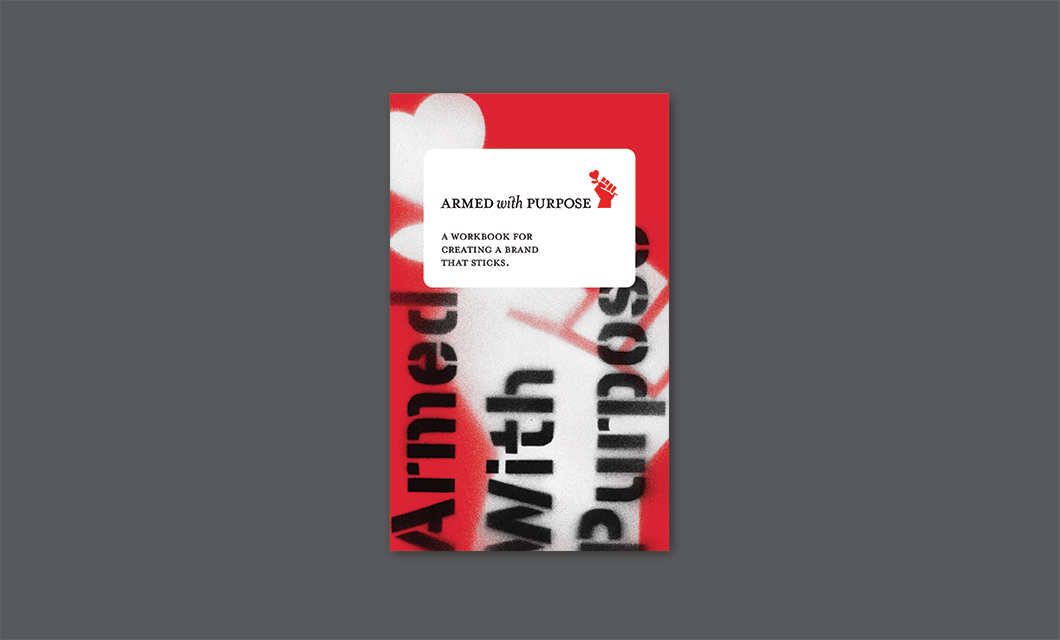 Armed With Purpose (A Branding Discovery Tool) Cover by Ottawa graphic designer idApostle