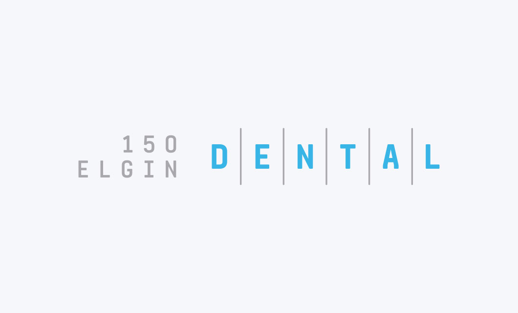 Wordmark/Logo for dental practice 150 Elgin Dental by Ottawa graphic designer idApostle