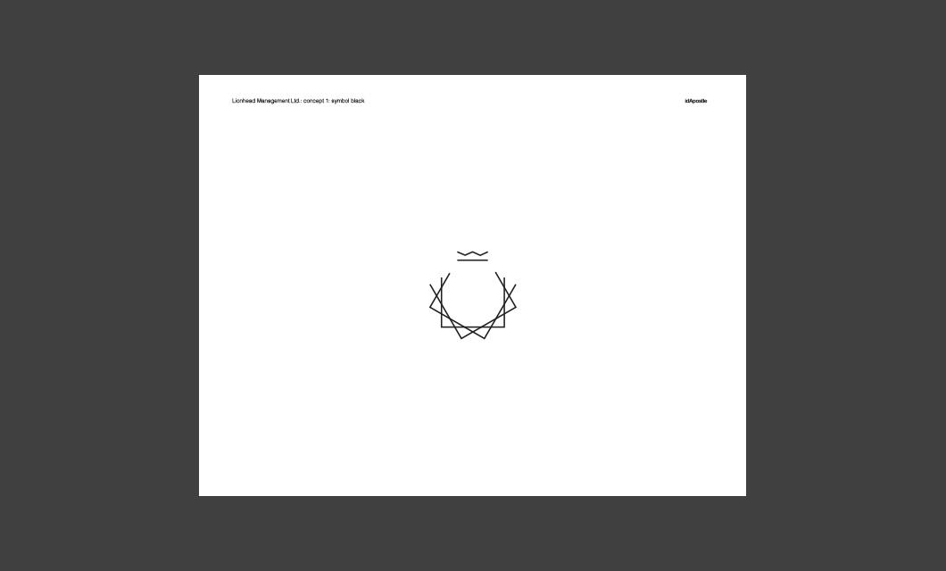 Design presentation deck for Lionhead branding and logo design: Symbol Black Page