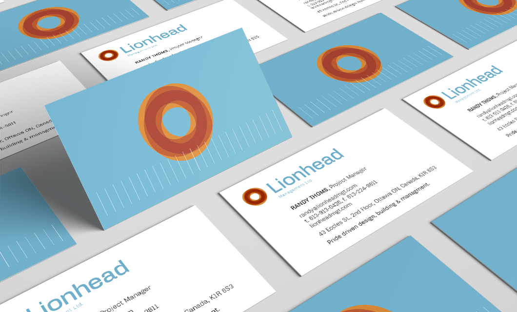 Lionhead rebranding concept 2 business cards