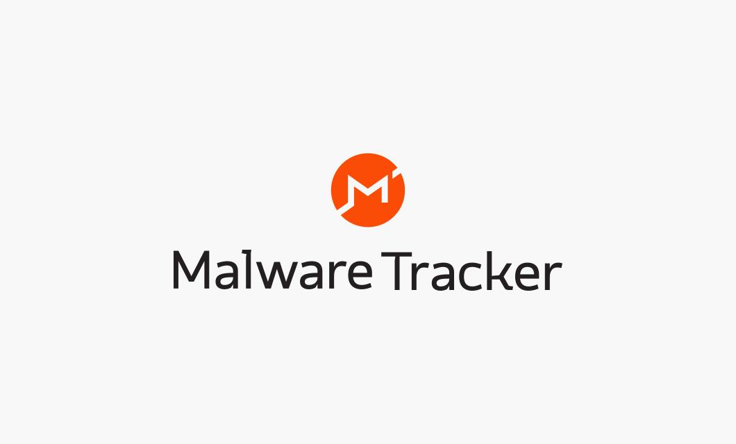 Malware Tracker Logo Stacked by Ottawa graphic designer idApostle