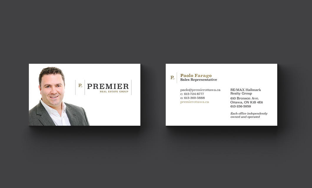 Premier Real Estate Group Business Card Design by idApostle