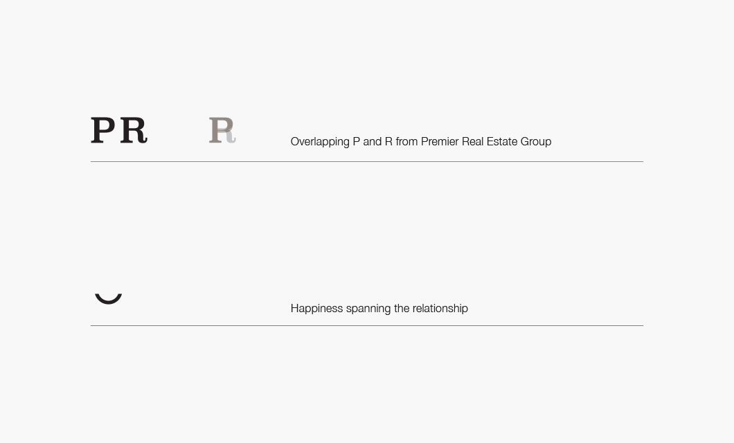 Premier Real Estate Group Rationale by Ottawa graphic designer idApostle