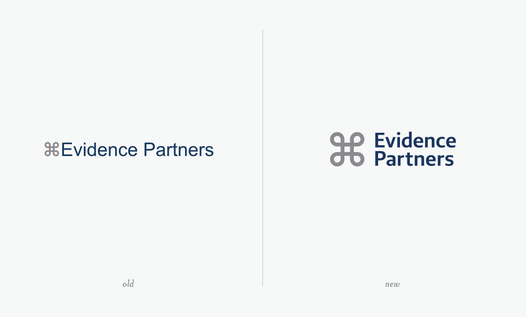 Software developer Evidence Partners logo refresh by Ottawa graphic designer idApostle