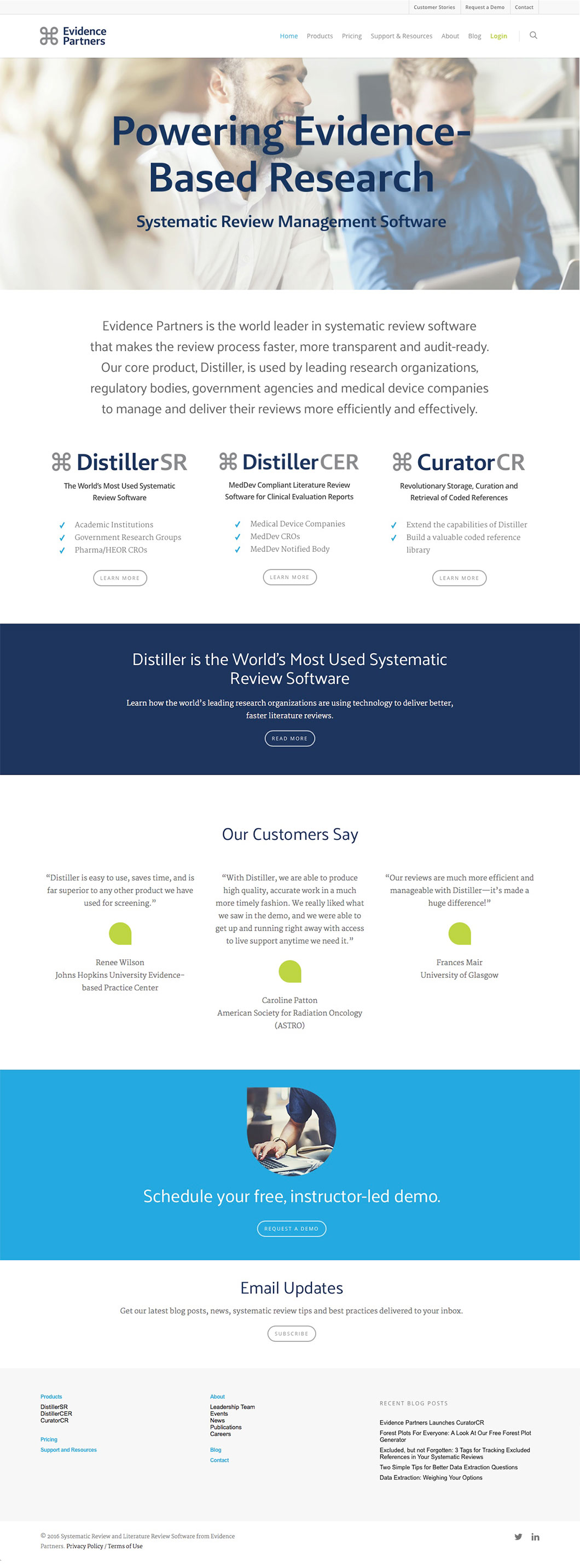 Software developer Evidence Partners website by Ottawa graphic designer idApostle
