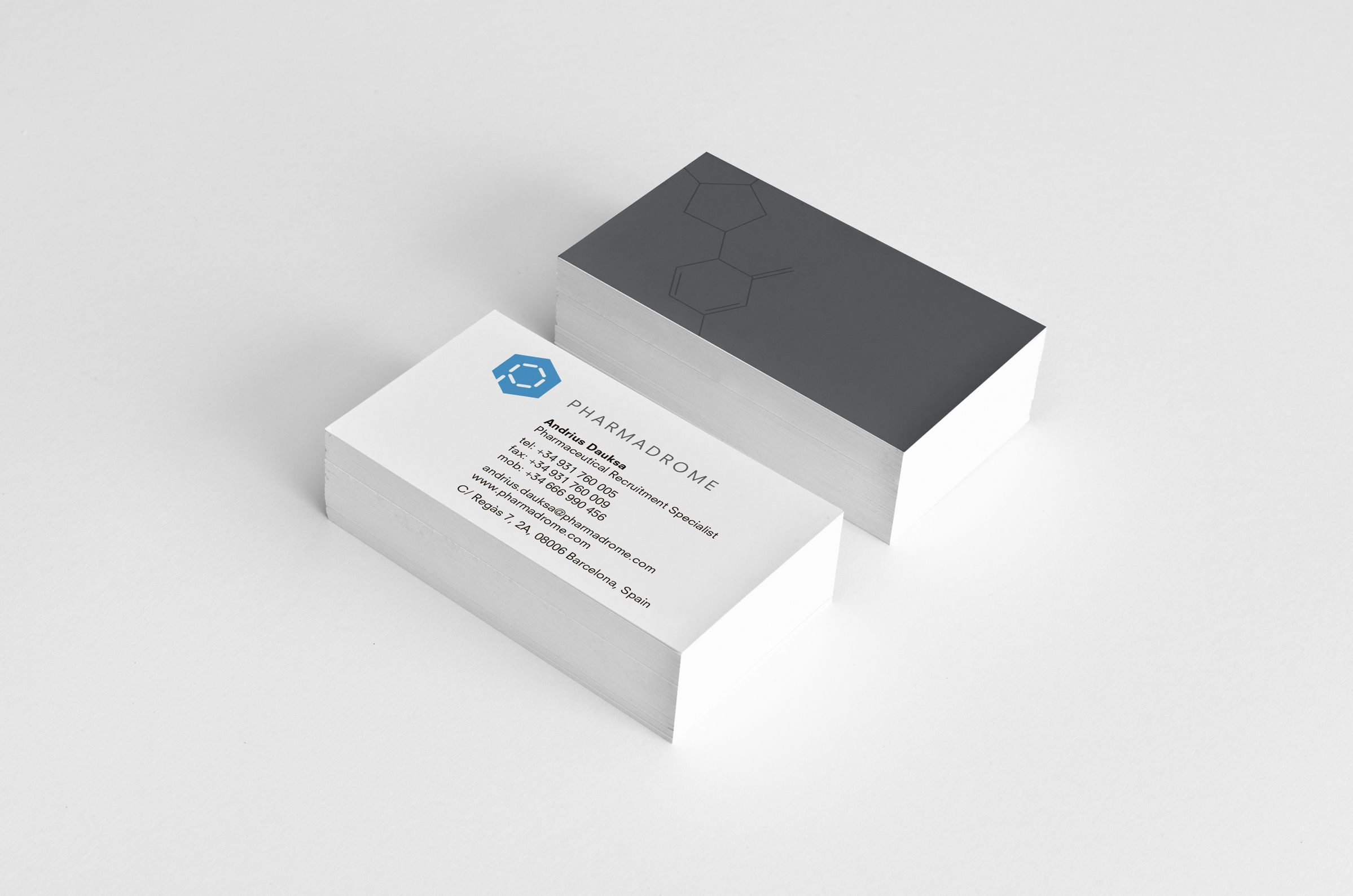 Business Cards for Pharmadrome, a pharmaceutical recruitment consultancy by Ottawa Graphic Design Studio idApostle