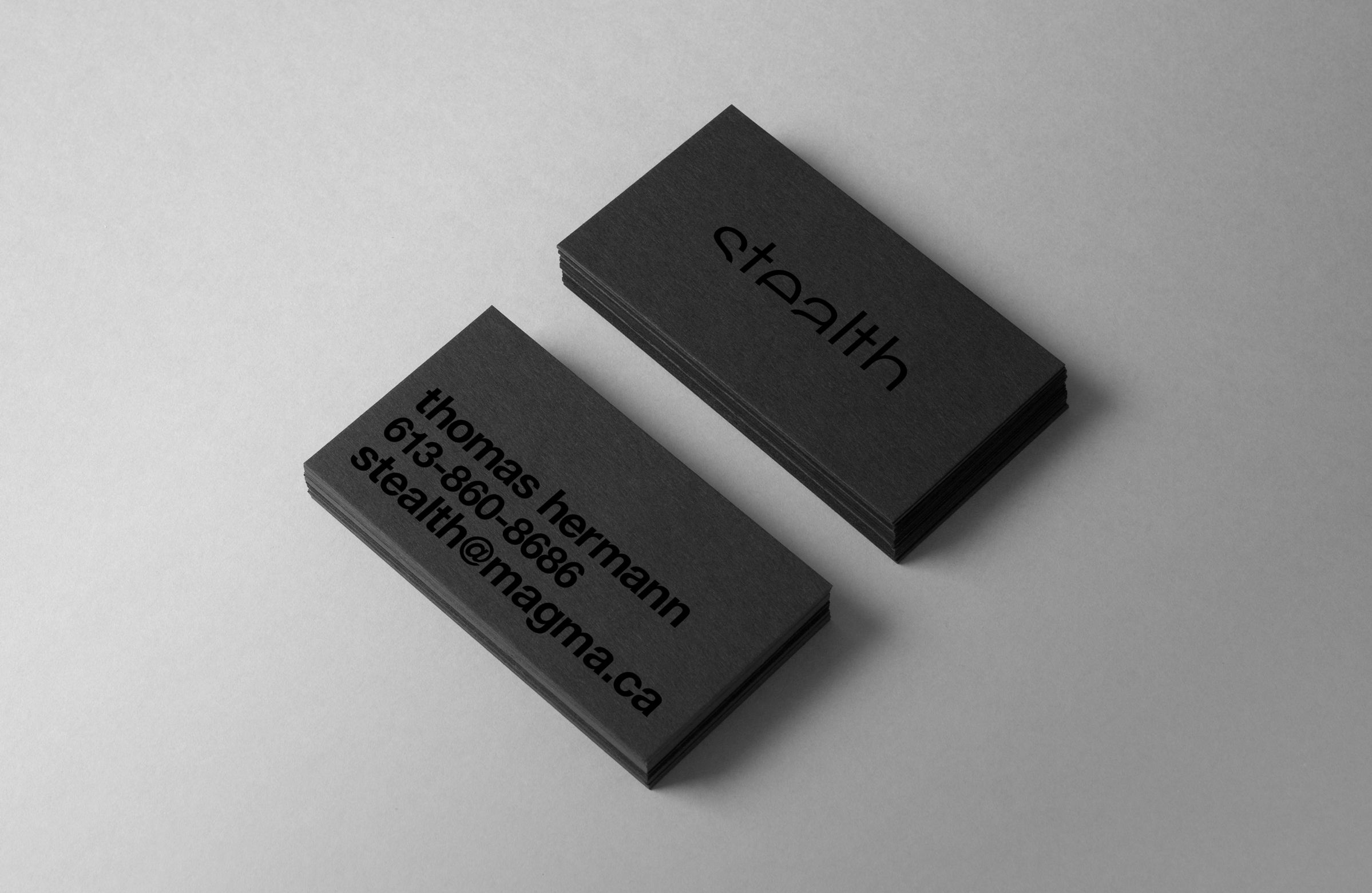 Business Cards for Stealth Security, by Ottawa Graphic Design Studio idApostle