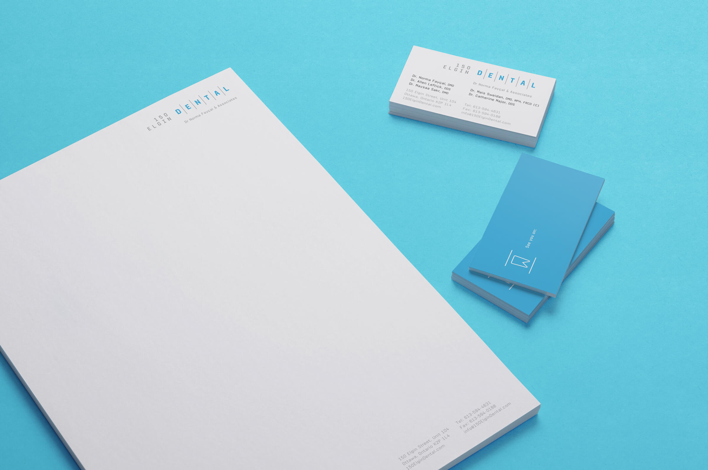 Stationery for 150 Elgin Dental, an Ottawa dentist by Graphic Design Studio idApostle